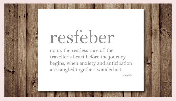Please use resfeber in a sentence frills trills resfeb stopboris Image collections